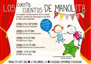 Manolita Café Bar Los cuentacuentos de Manolita Salamanca Septiembre octubre 2019