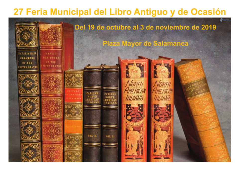 Plaza Mayor XXVII Feria Municipal del Libro Antiguo y de Ocasión Salamanca Octubre noviembre 2019