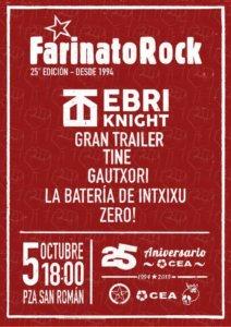Plaza de San Román XXV Festival Farinato Rock CEA CES Salamanca Octubre 2019