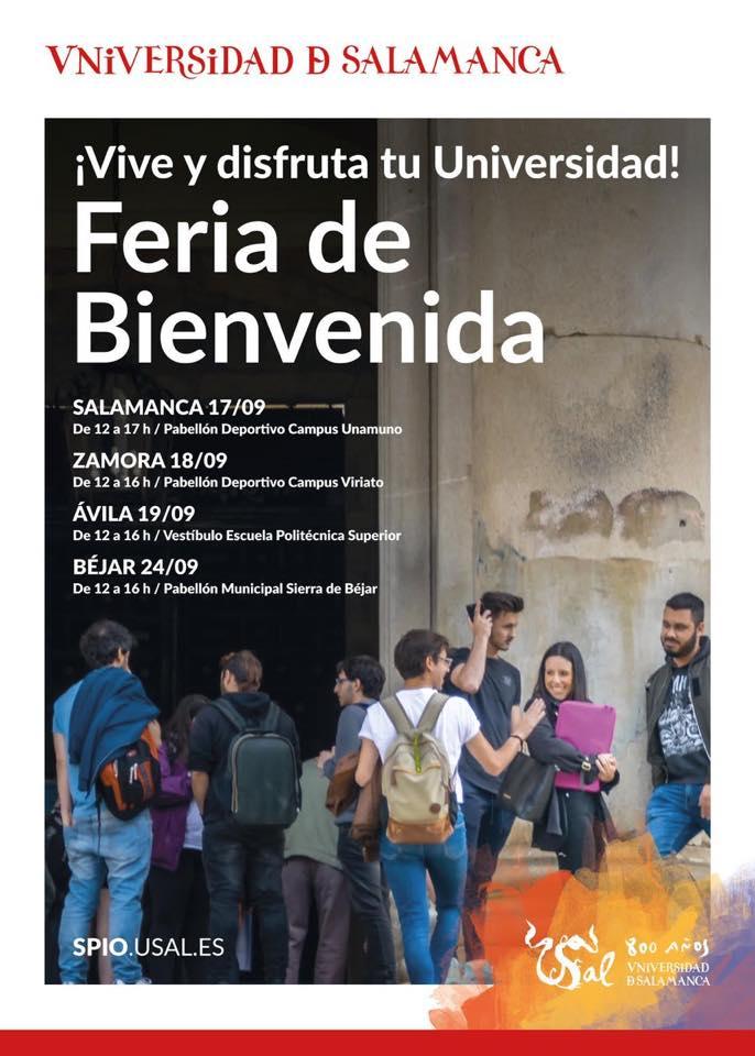 Universidad de Salamanca Feria de Bienvenida 2019-2020 Septiembre