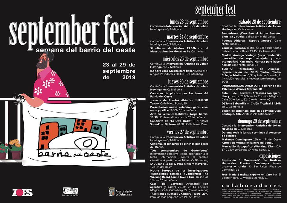 Salamanca September Fest ZOES Septiembre 2019