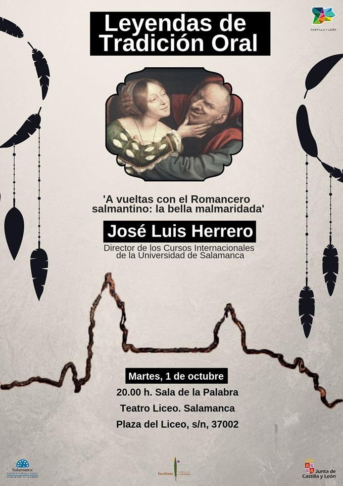 Teatro Liceo José Luis Herrero Ingelmo Ciclo Leyendas de tradición oral Salamanca Octubre 2019