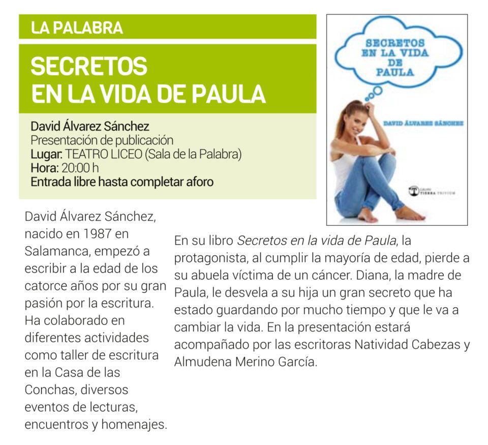Teatro Liceo Secretos en la vida de Paula Salamanca Octubre 2019