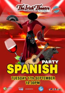 The Irish Theatre Spanish Party Salamanca Septiembre 2019