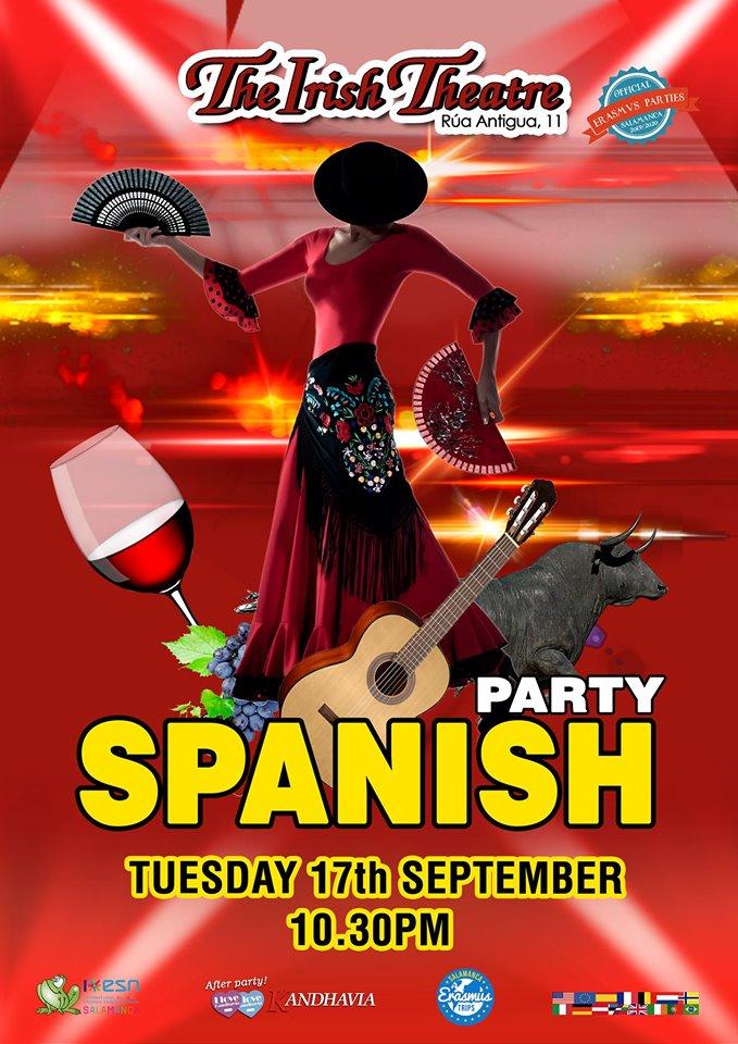 The Irish Theatre Spanish Party Salamanca Septiembre 2019