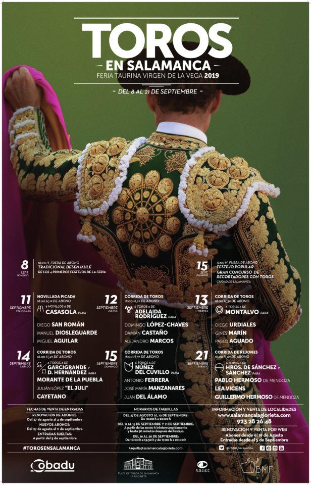 Ferias y Fiestas 2019 Plaza de Toros La Glorieta Feria Taurina Virgen de la Vega Salamanca Septiembre