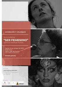 Aula Teatro Juan del Enzina Ser femenino Salamanca Octubre 2019