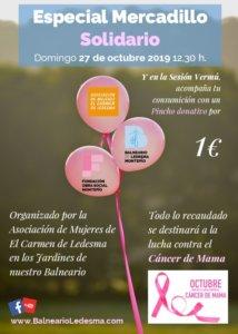 Balneario de Ledesma Mercadillo Solidario Octubre 2019