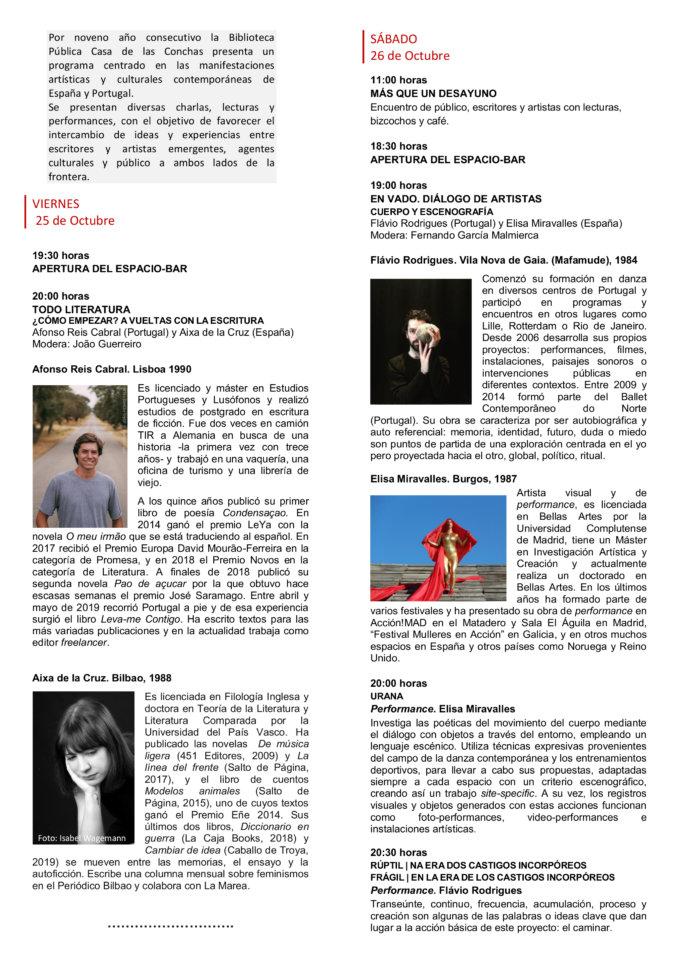 Casa de las Conchas De un lado a otro Miradas contemporáneas IX Salamanca Octubre 2019