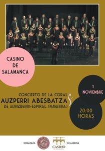 Casino de Salamanca Coral Auzperri Abesbatza Noviembre 2019