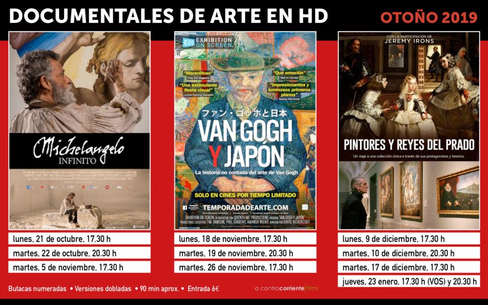 Cines Van Dyck Documentales de Arte Salamanca Otoño 2019