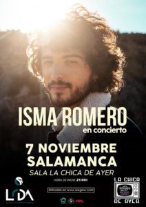 La Chica de Ayer Isma Romero Salamanca Noviembre 2019