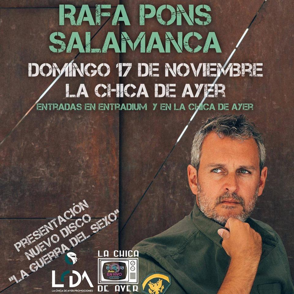 La Chica de Ayer Rafa Pons Salamanca Noviembre 2019