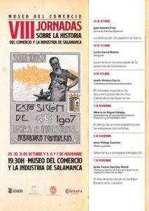 Museo del Comercio y de la Industria VIII Jornadas de Historia del Comercio y la Industria en Salamanca Octubre noviembre 2019