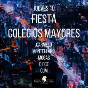 Posada de San Boal Fiesta de Colegios Mayores Salamanca Octubre 2019