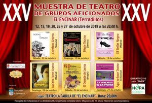 Terradillos XXV Muestra de Teatro para Grupos Aficionados Octubre 2019