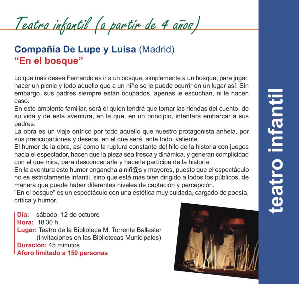 Torrente Ballester Compañía de Lupe y Luisa Salamanca Octubre 2019