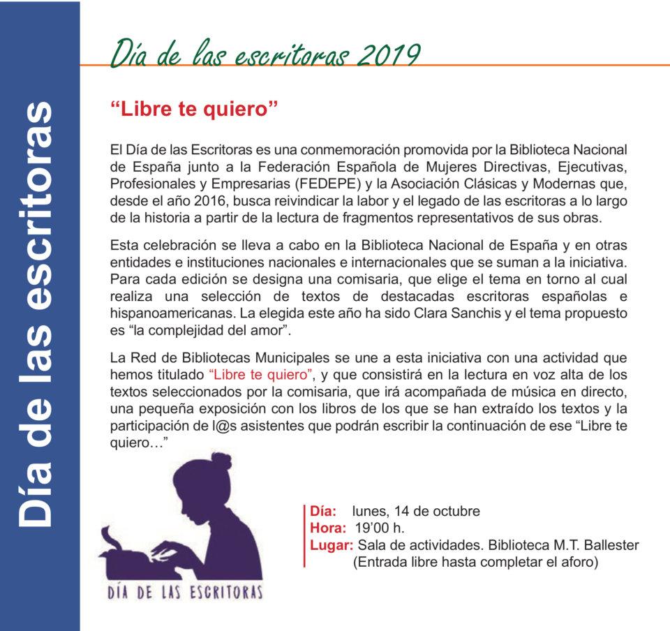 Torrente Ballester Día de las Escritoras 2019 Salamanca Octubre