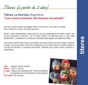 Torrente Ballester Títeres La Gaviota Salamanca Octubre 2019