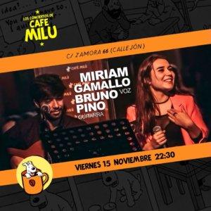 Café Milú Miriam Gamallo y Bruno Pino Salamanca Noviembre 2019