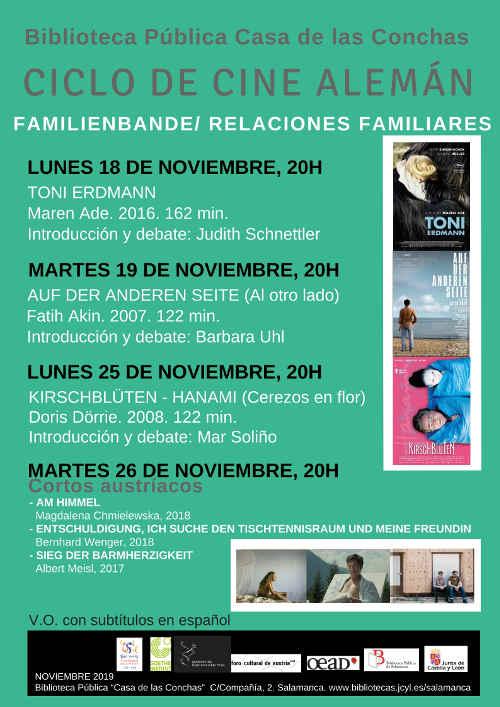 Casa de las Conchas Ciclo de Cine Alemán Salamanca Noviembre 2019