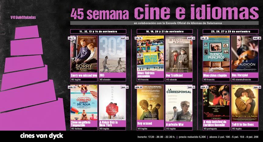 Cines Van Dyck 45 Semana Cine e idiomas Salamanca Noviembre 2019