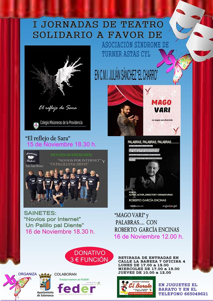 Julián Sánchez El Charro I Jornadas de Teatro Solidario Salamanca Noviembre 2019