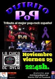 La Chica de Ayer Distrito Pop Salamanca Noviembre 2019