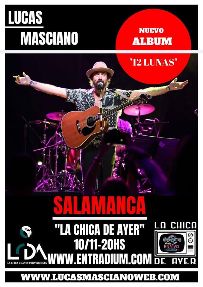 La Chica de Ayer Lucas Masciano Salamanca Noviembre 2019