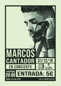 La Chica de Ayer Marcos Cantador Salamanca Diciembre 2019