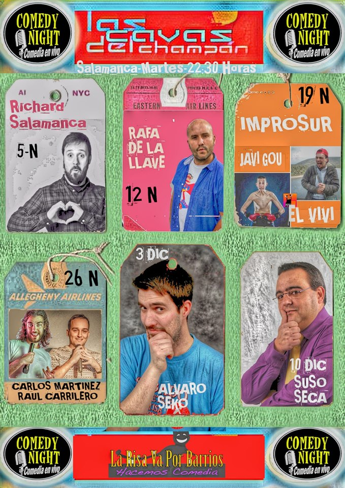 Las Cavas del Champán Comedy Night Salamanca Noviembre diciembre 2019