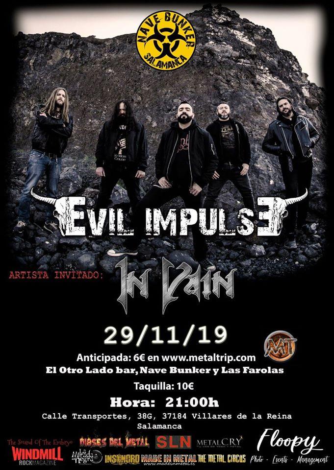Nave Bunker Evil Impulse + In Vain Villares de la Reina Noviembre 2019