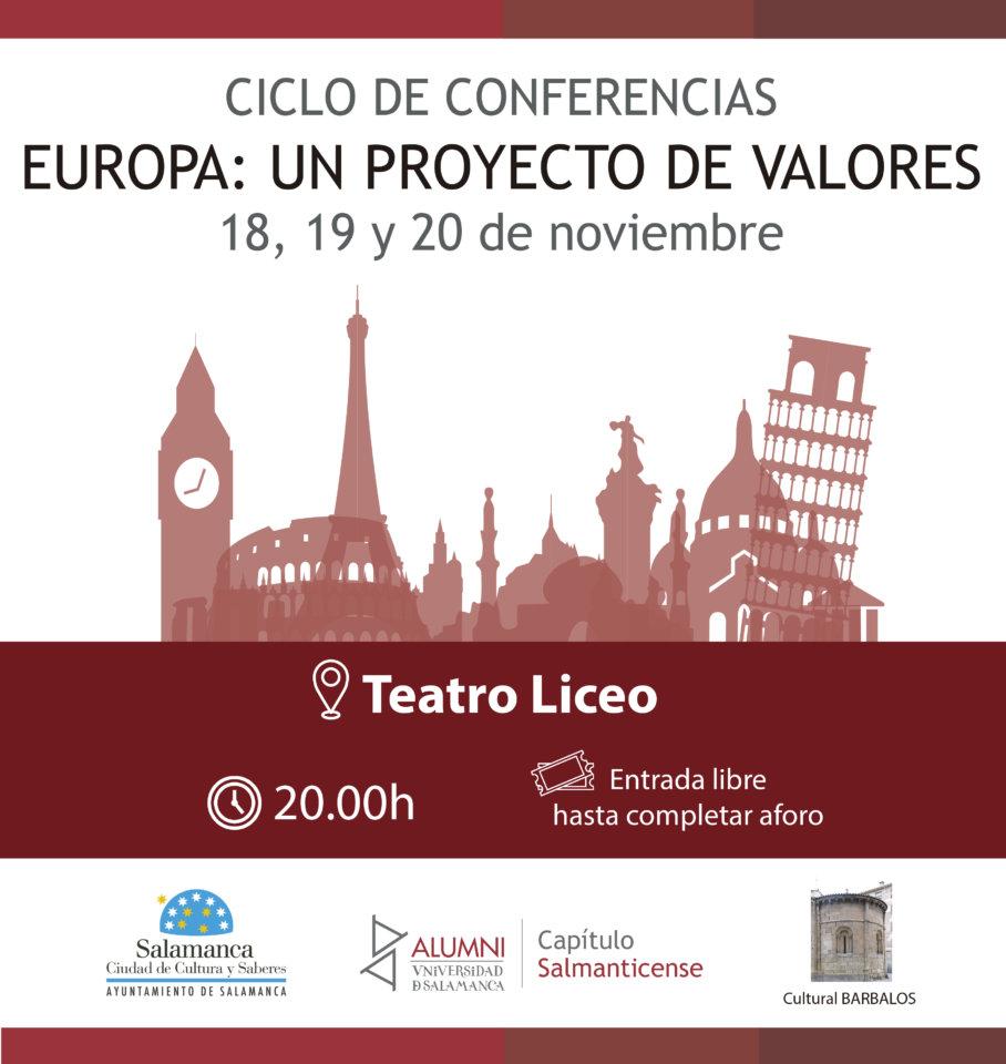 Teatro Liceo Ciclo de Conferencias Europa: Un proyecto de valores Salamanca Noviembre 2019