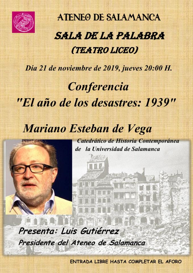 Teatro Liceo Mariano Esteban de Vega Ateneo de Salamanca Noviembre 2019