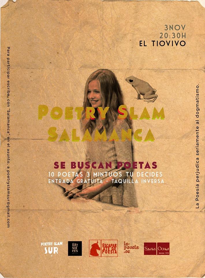 Tío Vivo Poetry Slam Salamanca Noviembre 2019