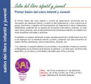 Torrente Ballester I Salón del Libro Infantil y Juvenil Salamanca Noviembre 2019