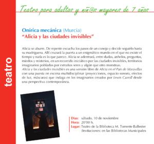 Torrente Ballester Onírica Mecánica Salamanca Noviembre 2019