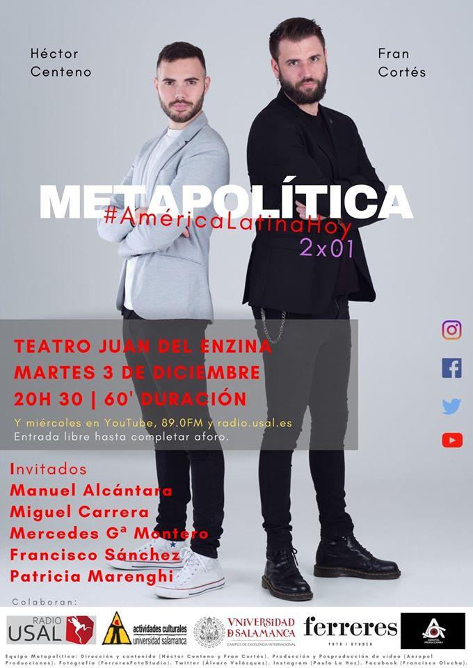 Aula Teatro Juan del Enzina Metapolítica Salamanca Diciembre 2019