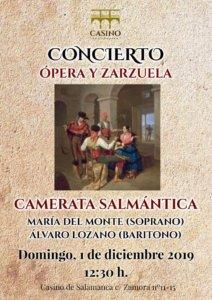 Casino de Salamanca Camerata Salmántica Diciembre 2019