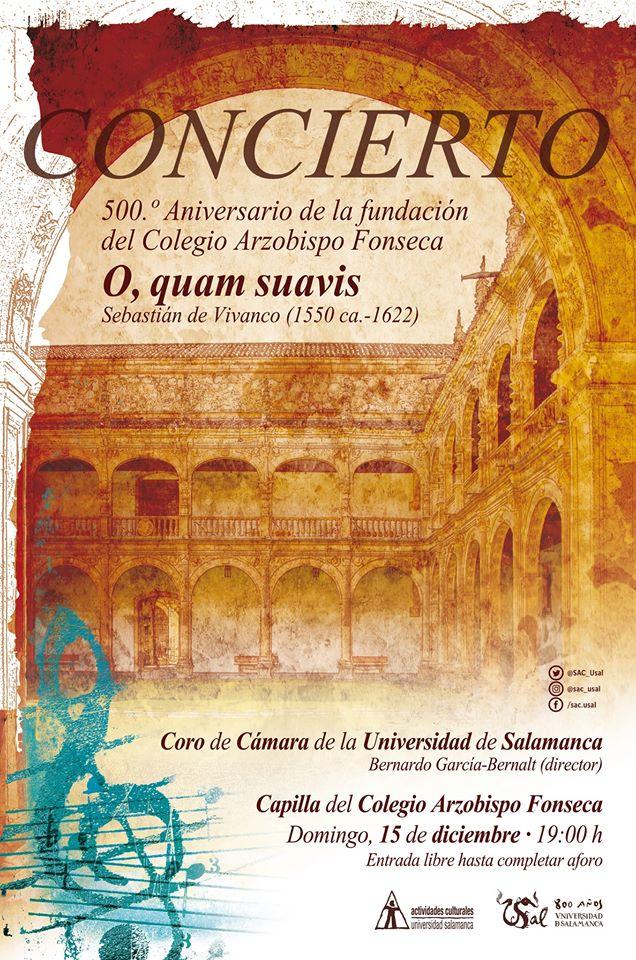 Colegio Arzobispo Fonseca Coro de Cámara de la Universidad de Salamanca Diciembre 2019
