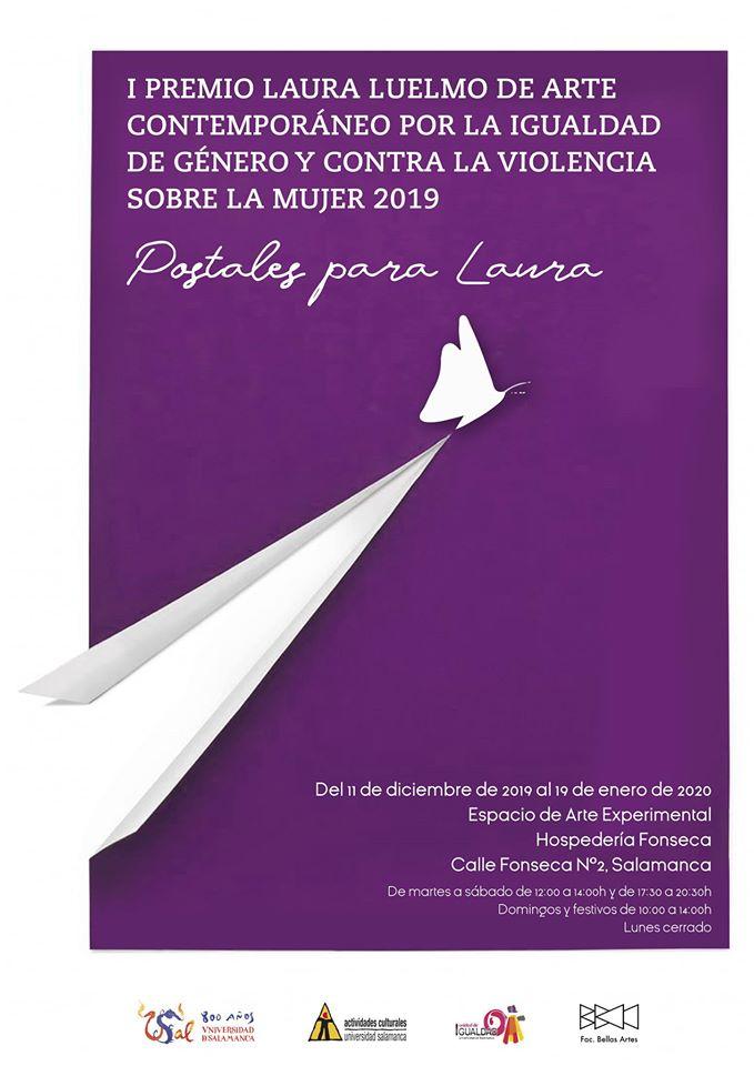 Hospedería Fonseca I Premio Laura Luelmo de Arte Contemporáneo por la Igualdad de Género y contra la Violencia sobre la Mujer Salamanca Septiembre Diciembre 2019 enero 2020