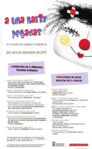 Programa Salamanca III Encuentro de Payasas A una nariz pegadas Diciembre 2019