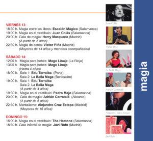 Programa Torrente Ballester XIII Festival de Magia Salamanca Diciembre 2019