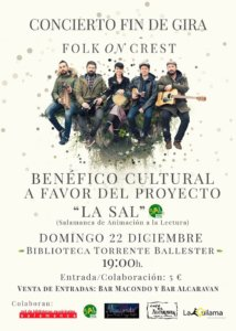 Torrente Ballester Folk on Crest Salamanca Diciembre 2019