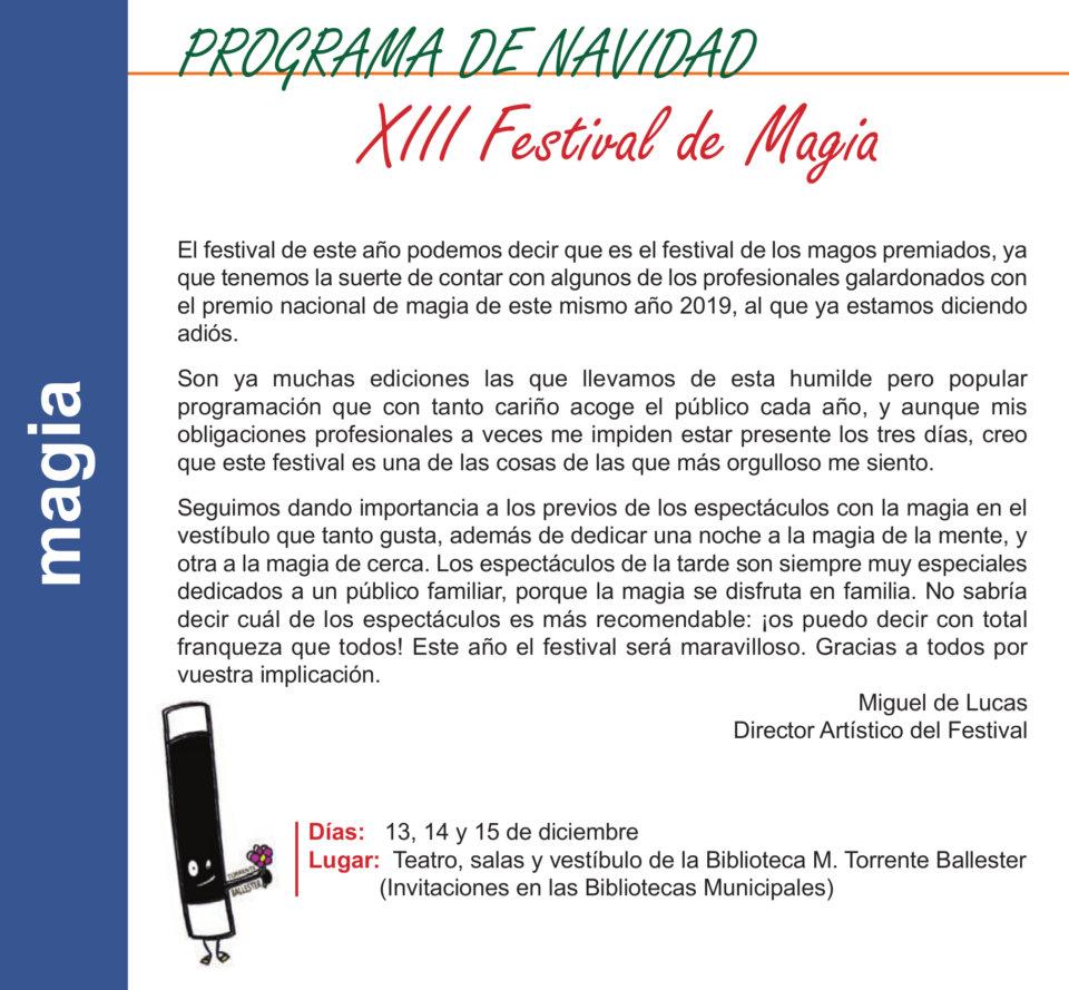 Torrente Ballester XIII Festival de Magia Salamanca Diciembre 2019