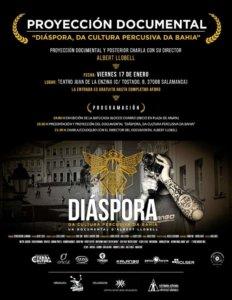 Aula Teatro Juan del Enzina Diáspora, da cultura percusiva da Bahia Salamanca Enero 2020