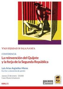 Casa Museo Miguel de Unamuno La reinvención del Quijote y la forja de la Segunda República Salamanca Enero 2020