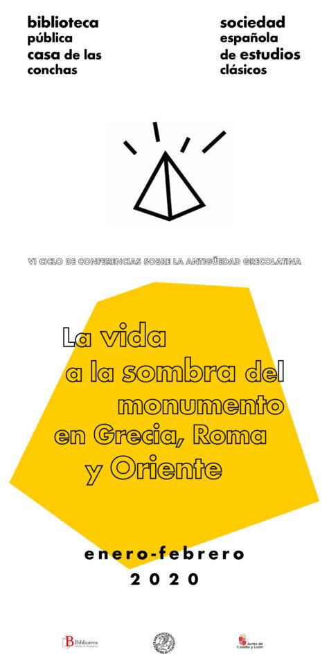 Casa de las Conchas VI Ciclo de Conferencias sobre la Antigüedad Grecolatina Salamanca Enero febrero 2020