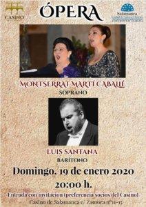 Casino de Salamanca Monserrat Martí Caballé + Luis Santana Enero 2020