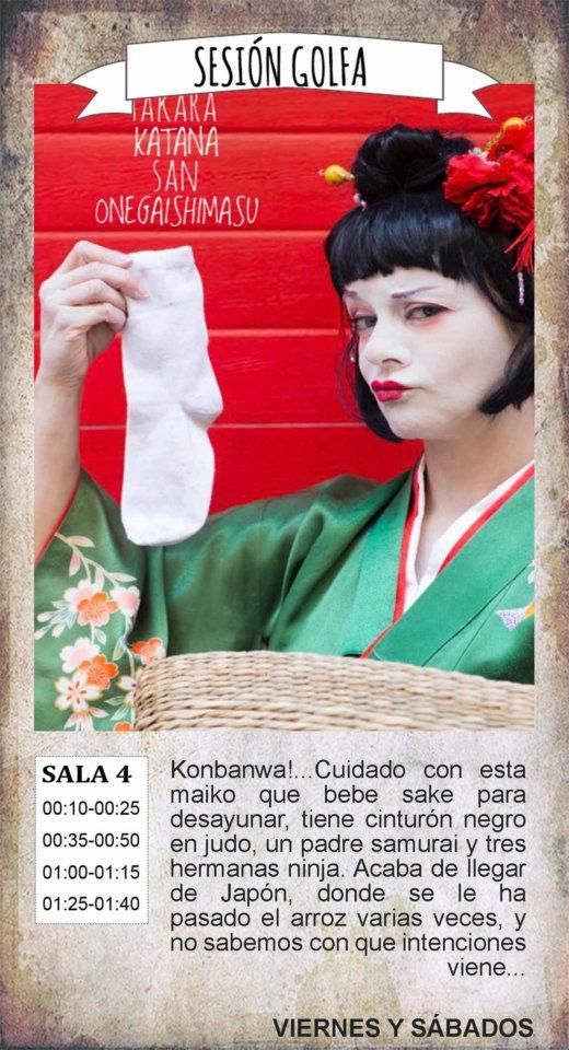La Malhablada Takara katana san onegaishimasu Sesión Golfa Salamanca Enero 2020